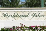 Parkland Isles community sign